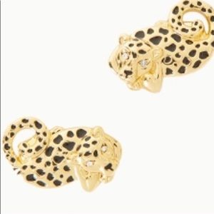 Lilly Pulitzer Cheetah Earrings GWP- New with tags